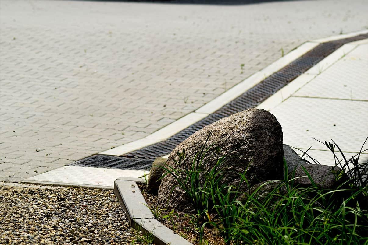 Afwatering met betongoten